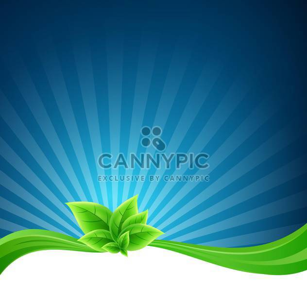 Vector floral background with leaves and space for text - Free vector #131247