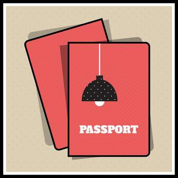 Lamp passport cover vector illustration - Free vector #131257