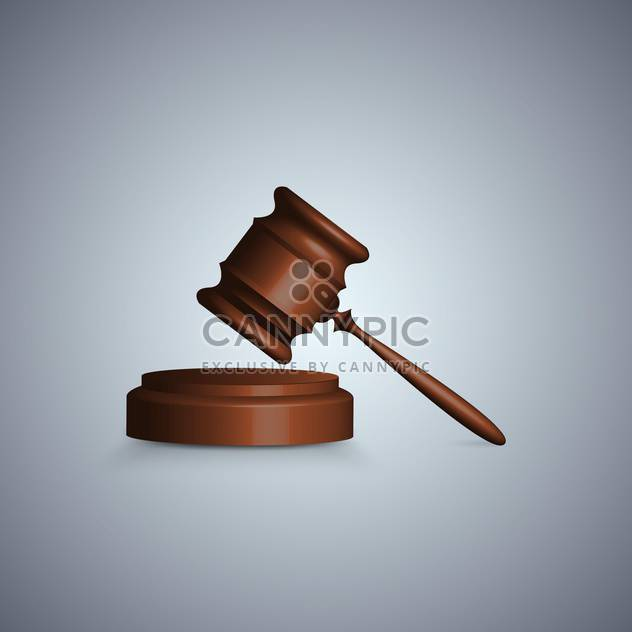 Judge gavel in focuson grey background - Free vector #131297