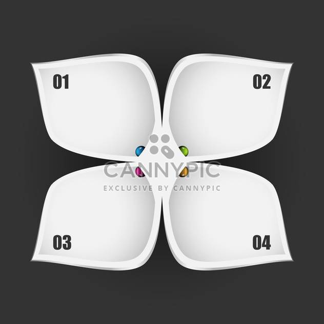 Vector business tags on grey background - Free vector #131387