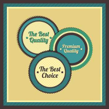 Collection of premium quality labels with retro vintage styled design - vector gratuit #131447