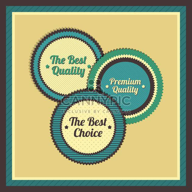 Collection of premium quality labels with retro vintage styled design - Free vector #131447
