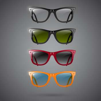 Set of fashion hipster glasses - vector gratuit #131497