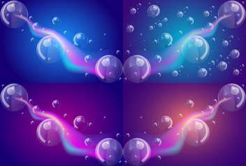 Glowing abstract background with bubbles vector illustration - Free vector #131527