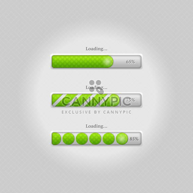 Vector loading bars on grey background - Free vector #131697