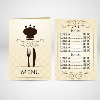 Restaurant menu vector design - vector gratuit #131717
