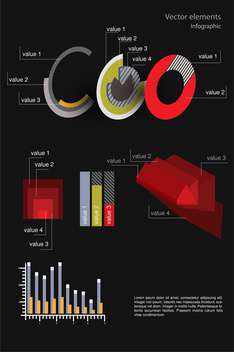 Vector infographic elements illustration - vector gratuit #131737