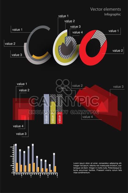 Vektor-Infographik Elemente illustration - Free vector #131737