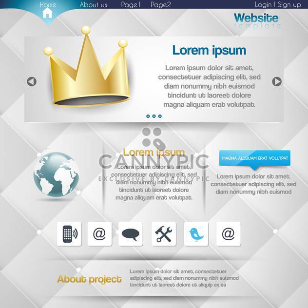 Vector website design template illustration - Free vector #131767