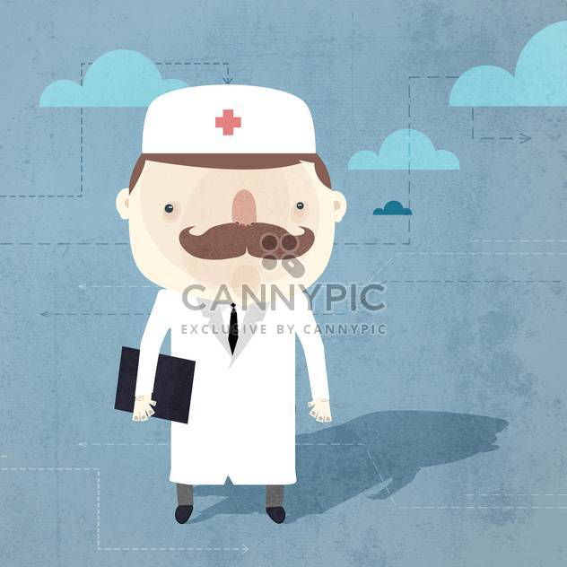 Vector grunge background with doctor - Free vector #131787