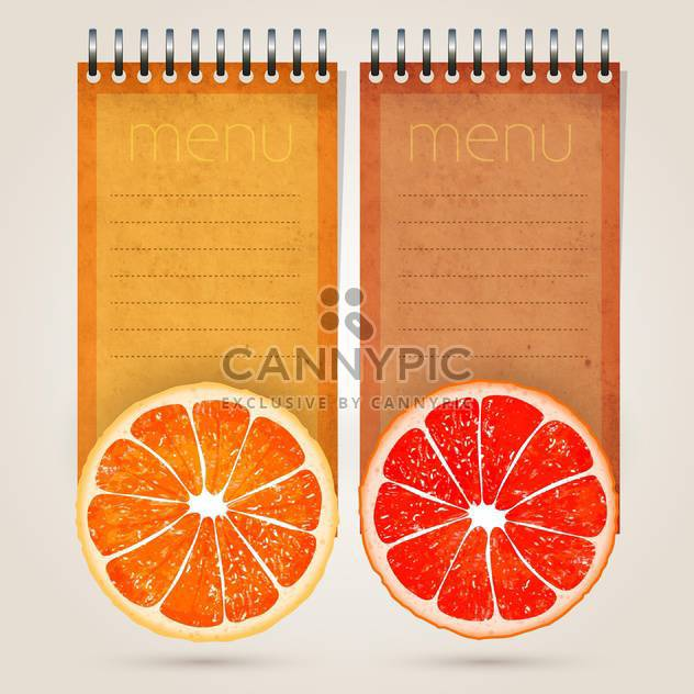 Restaurant menu template for juices and freshes - Free vector #131857