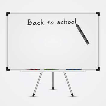 Text back to school on a blackboard on white background - Kostenloses vector #131927