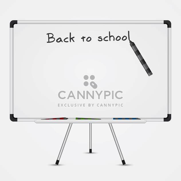 Text wieder in die Schule auf einer Tafel auf weißem Hintergrund - Kostenloses vector #131927