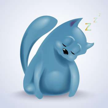 Vector illustration of sleeping cute cat - Free vector #131957