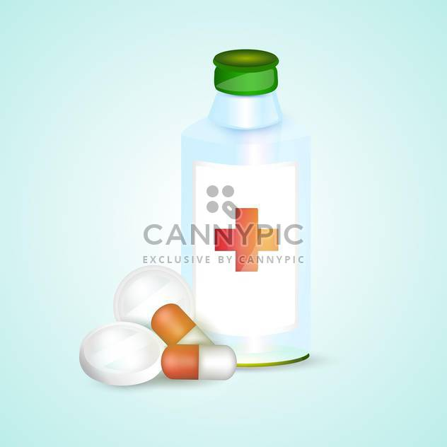 Prescription pill bottle with pills vector illustration - Free vector #132007