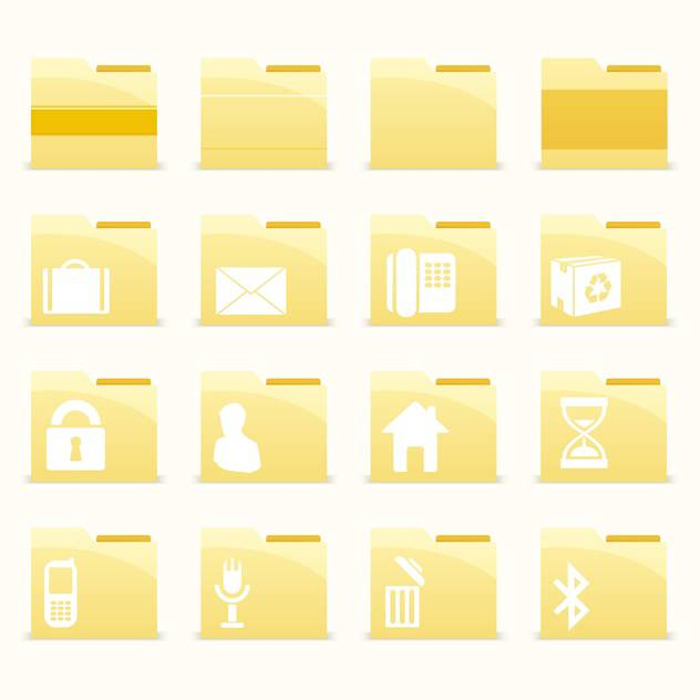 Vector folder icons set on white background - vector #132167 gratis