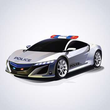 Illustration of police car, vector illustration - Free vector #132177