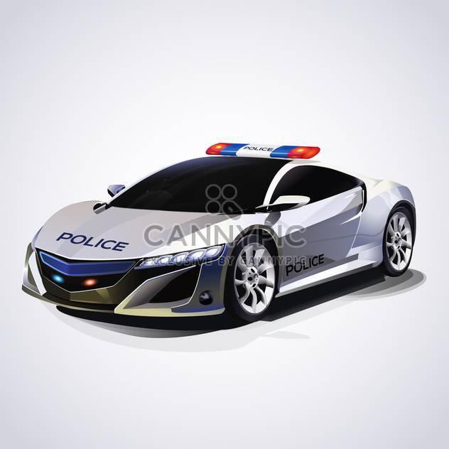 Illustration of police car, vector illustration - Free vector #132177