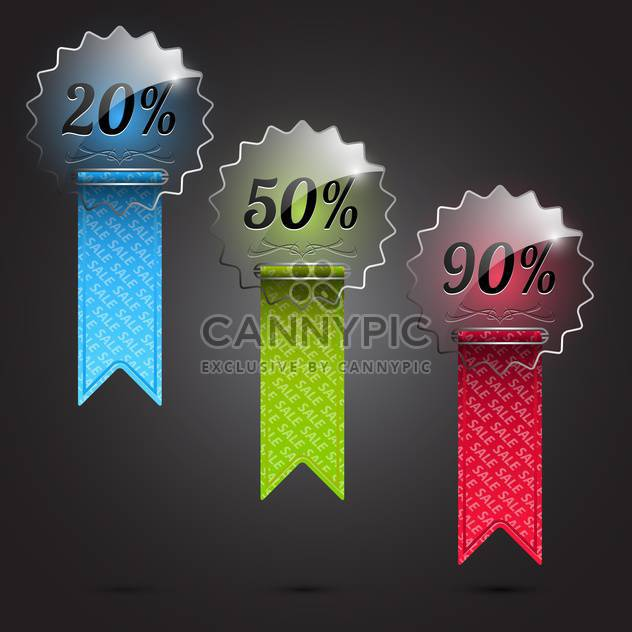 Set of colorful sale vector labels - Free vector #132207