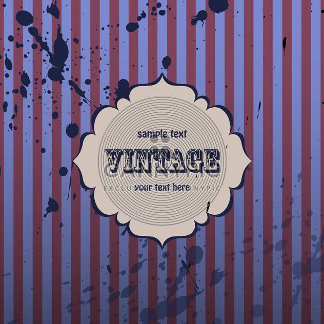Purple vector vintage background with with stripes and blots - Free vector #132217