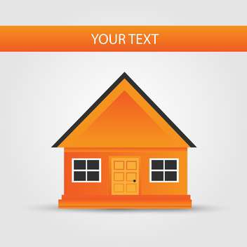 Vector background with orange house icon - vector gratuit #132267