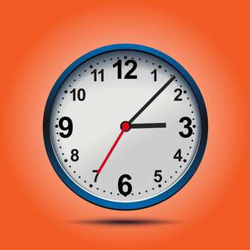 Wall mechanical clock on orange background ,vector illustration - vector gratuit #132277
