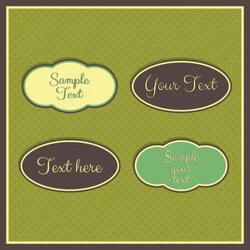 Vintage frames with place for text on green background - бесплатный vector #132297