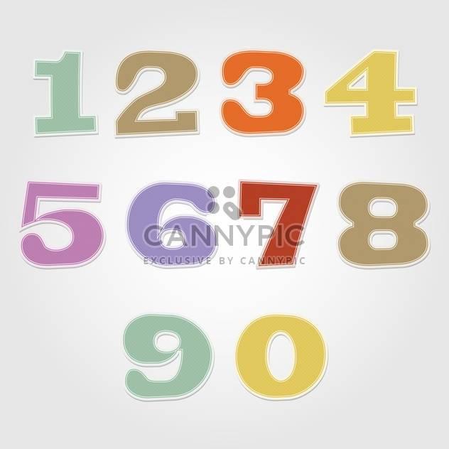 Bunte Vektor Zahlen Satz - Kostenloses vector #132357