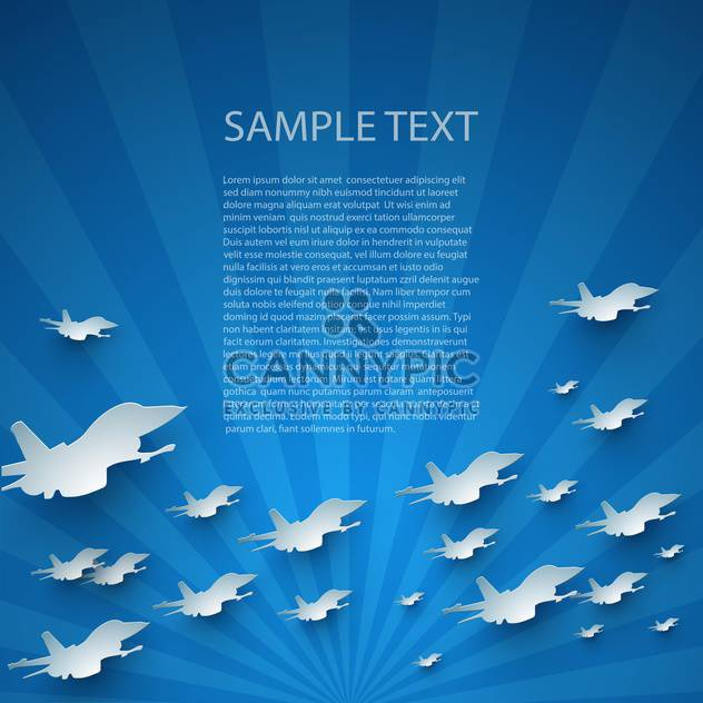 Blue abstract vector background with planes - Free vector #132397