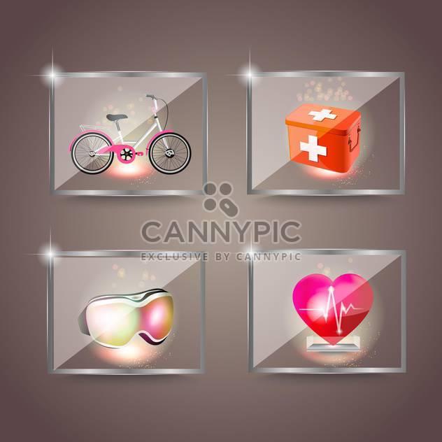 Reihe von Icons von Sport und Gesundheit-Vektor-illustration - Free vector #132457