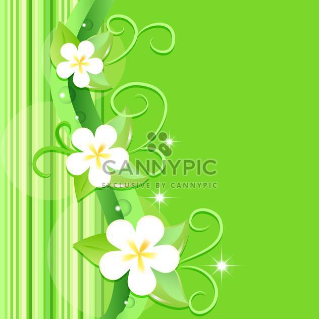 vector summer floral background - Free vector #132487