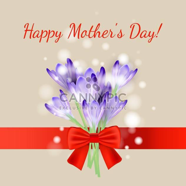 Vektor-Tageskarte glückliche Mutter - Kostenloses vector #132547