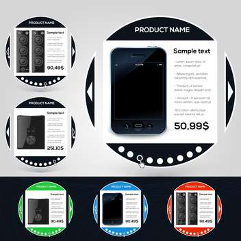 mobile phone online shopping banners - vector gratuit #132567