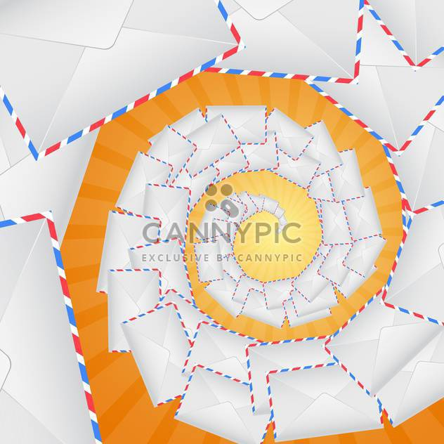 envelopes forming spiral staircase - Free vector #132587