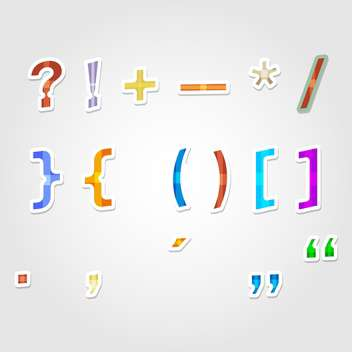 vector punctuation marks and vector symbols - Free vector #132707