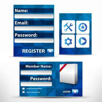 vector registration web icon form - Free vector #132747