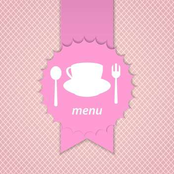 pink frame menu design template - Free vector #132827