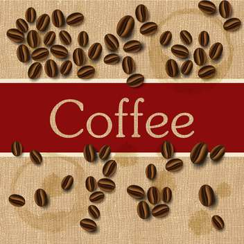 coffee beans design background - vector #132857 gratis