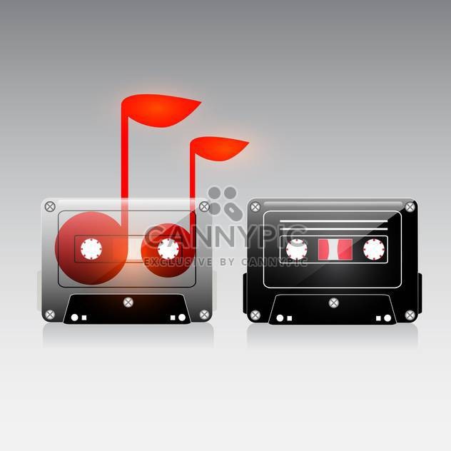 vintage analogue music record cassette - Free vector #132887