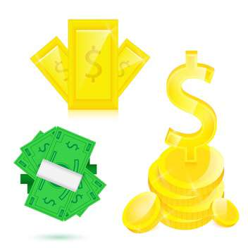 money vector illustration set - vector gratuit #132927
