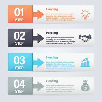 business process steps background - vector #132967 gratis