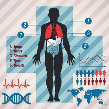 medical infographics vector illustration - vector #132997 gratis