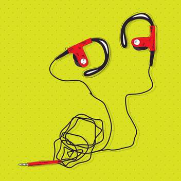 vector illustration of stereo headphones - vector gratuit #133037