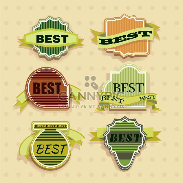 vector vintage labels set - Free vector #133067