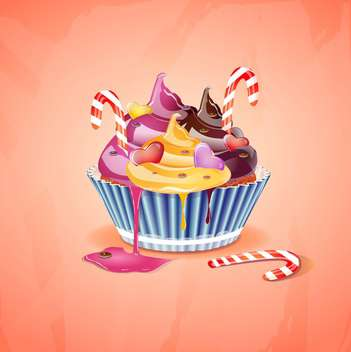 birthday cake vector illustration - vector gratuit #133087
