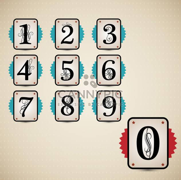 classical numbering design elements set - Free vector #133137