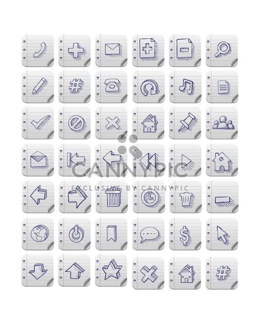 Vektor-Web-Icons set - Kostenloses vector #133147