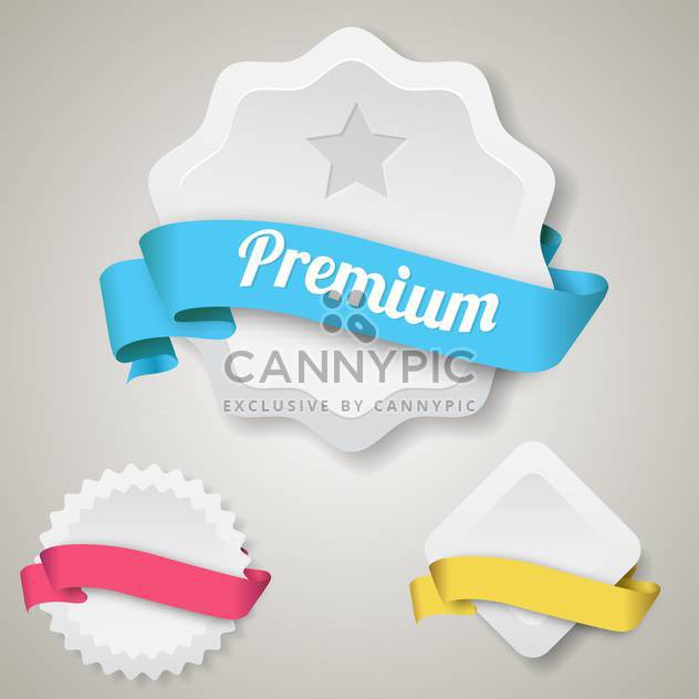 vector blank premium badges set - Free vector #133177