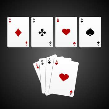 aces game cards vector background - vector gratuit #133207