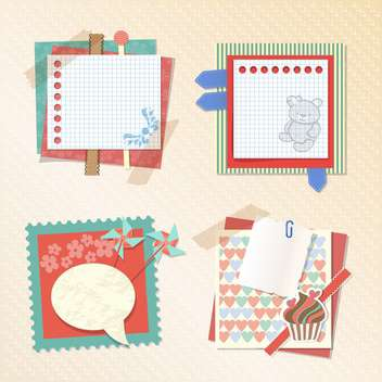 baby shower album notes background - бесплатный vector #133267